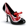 QUEEN-03 Black/Red/White Patent